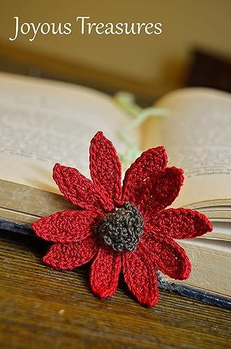 Amazon Handmade Bookmark Crochet Red Flower Bookmark Handmade
