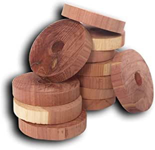 Household Essentials 14316-1 CedarFresh Red Cedar Wood Rings for Hangers - Set of 20