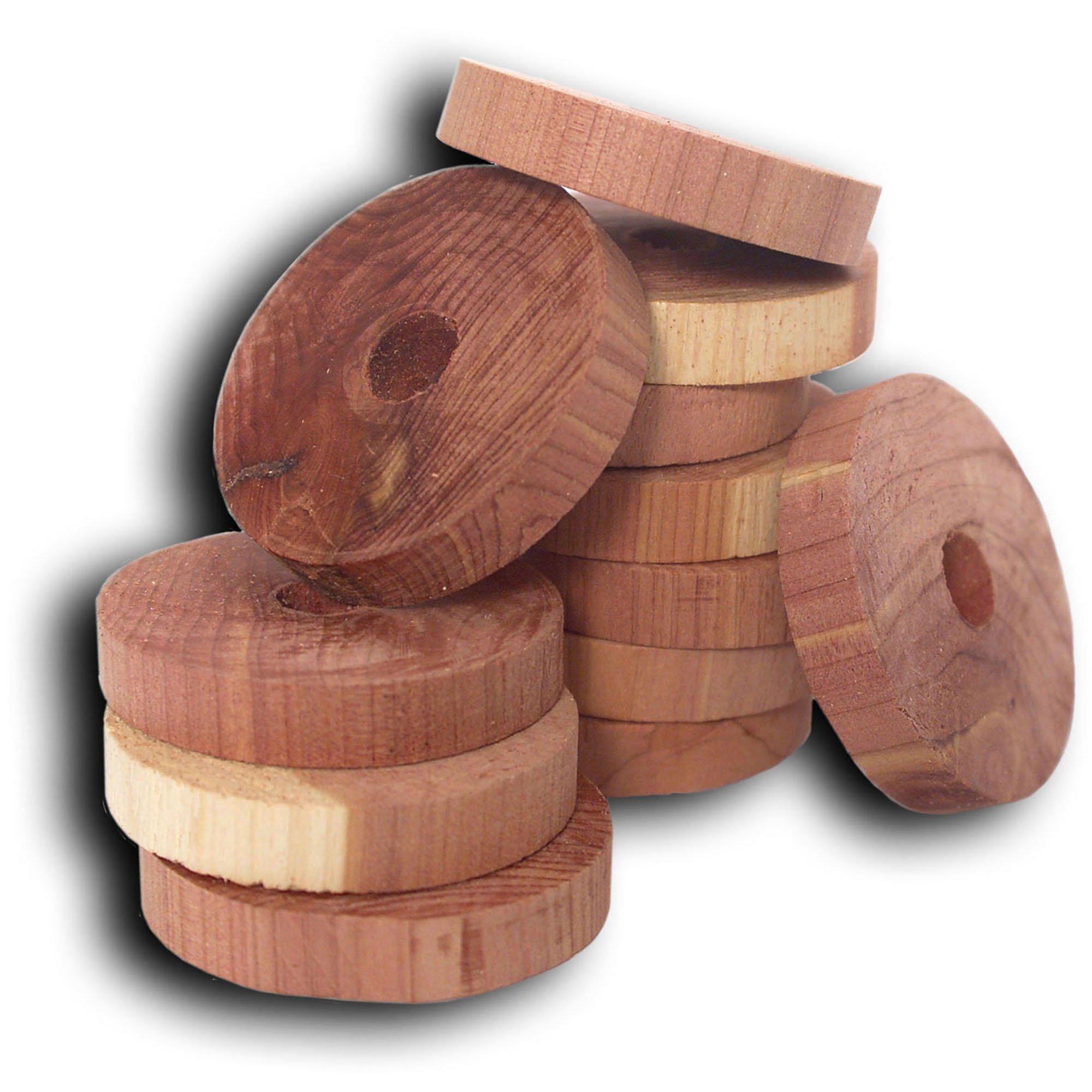 Household Essentials 14316-1 Cedar Fresh Red Cedar Wood Rings for Hangers | Set of 20