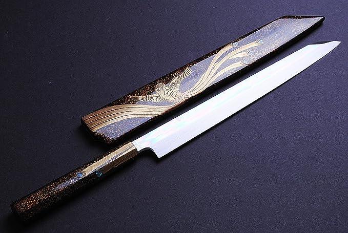 Amazon.com: Yoshihiro Aoko Azul Acero # 1 honyaki mirror ...