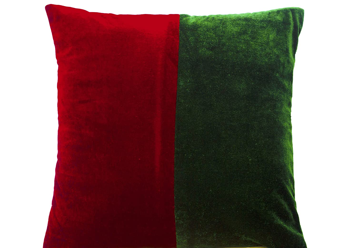 amazoncom amore beaute handmade christmas throw pillow covers  - amazoncom amore beaute handmade christmas throw pillow covers red andgreen colorblock velvet cushion cover  handcrafted decorative throwpillowcover