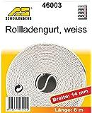 Schellenberg 46003 - Correa de persiana (14mm, 6m), color blanco