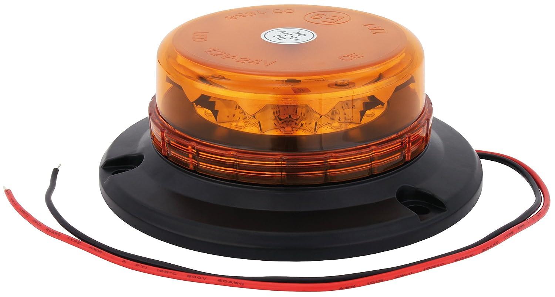 Gyrophare LED AdLuminis orange, alimentation en 12V ou en 24V