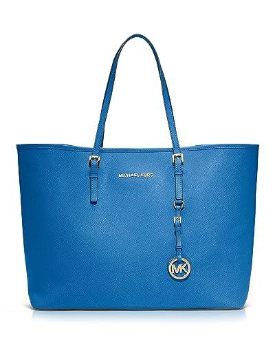 a74349ff5adaf Michael Kors Jet Set Travel Medium Travel Tote in Heritage Blue/gold:  Handbags: Amazon.com