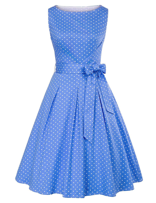 TALLA S. Grace Karin - Vestido sin mangas de la vendimia para mujer Cl663-2 S