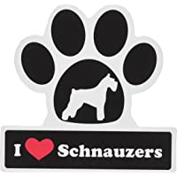 Little Gifts Schnauzer Paw Car Magnet
