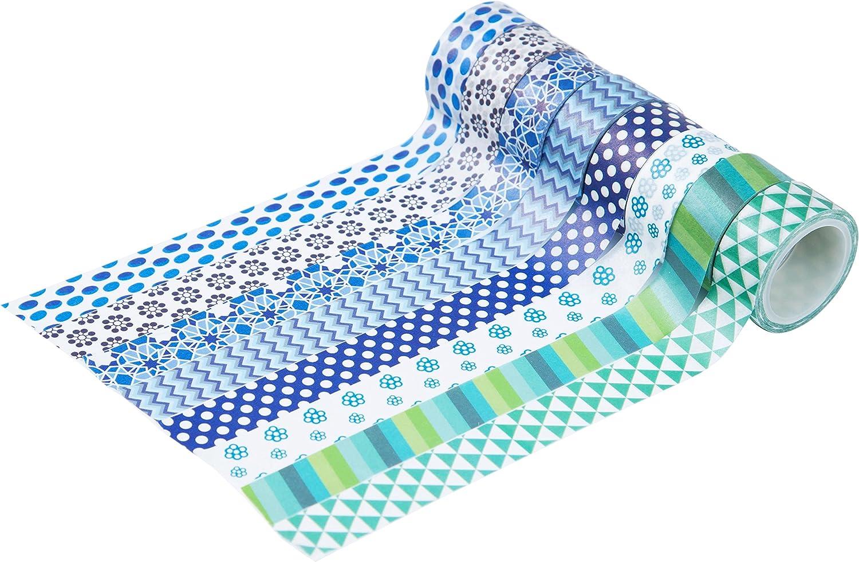 Mooker Set di 24/Rotoli di Nastro Washi Tape per Fai-da-Te e per Incartare Regali Nastro Adesivo Decorativo per Artigianato