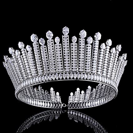 zebratown cz bridal tiaras crown baroque silver crystal diadem for bride headbands wedding hair jewelry dress