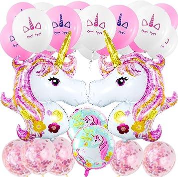 Magico Unicorno Palloncini in Lattice Bambino Compleanno Coriandoli Festa Nozze
