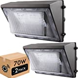 LIGHTDOT 70W LED Wall Pack Lights with Dusk to Dawn Photocell(2 Pack), 8000Lm 5000K Daylight IP65 Waterproof Wall Mount Outdo