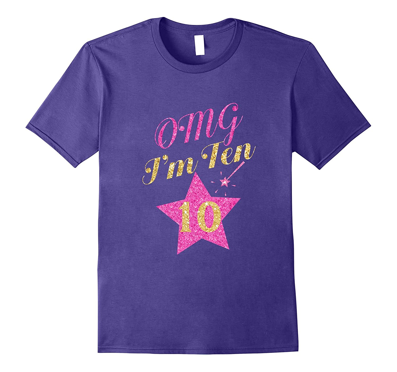 Pink Star Birthday Shirt For Girls 10 Gift-Vaci