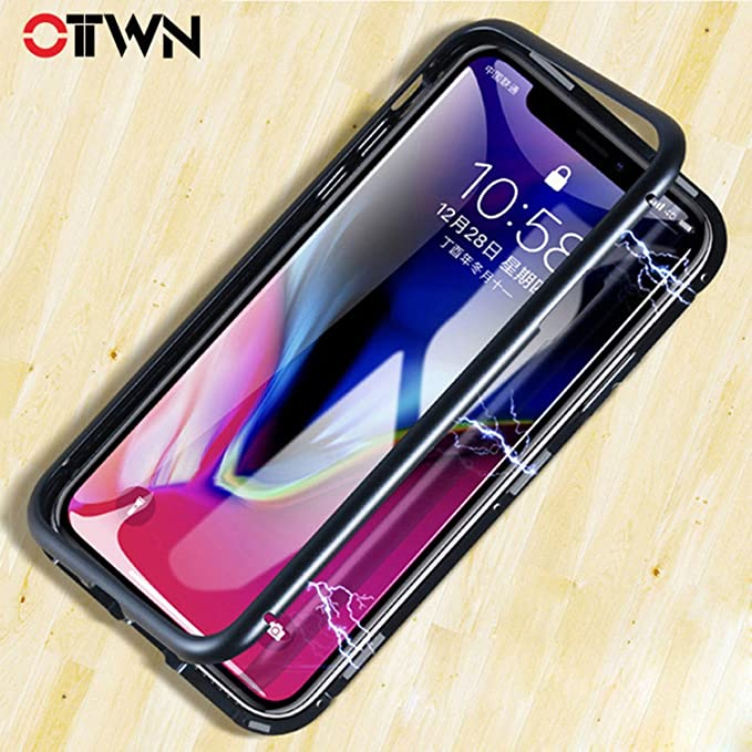 best website 2ee49 00a1c Amazon.com: Magnetic Adsorption Flip Phone Case For iphone X 10 ...