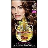 Garnier Olia Hair Color, 5.3 Medium Golden Brown, Ammonia Free Brown Hair Dye (Packaging May Vary)
