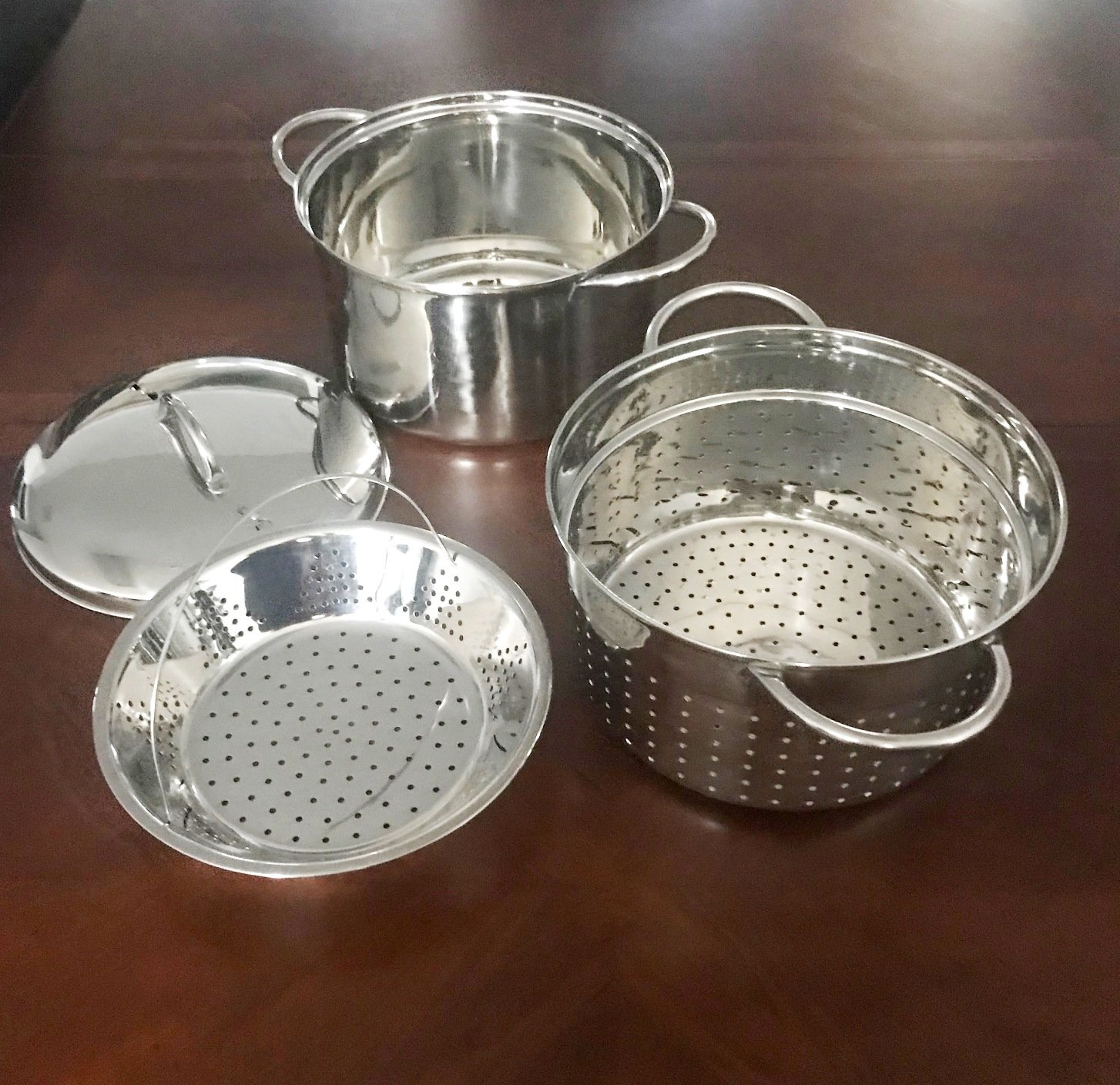Stainless Steel 4 Piece Multi-Cookware Set - Stainless Steel Pasta Cooker