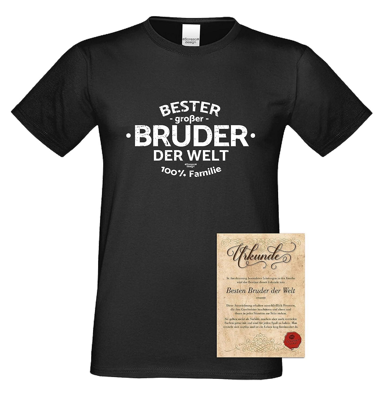 Geschenk-Set Bester großer Bruder der Welt Herren T-Shirt ...