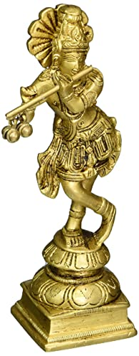 Lord Krishna Hindu God Brass Statue