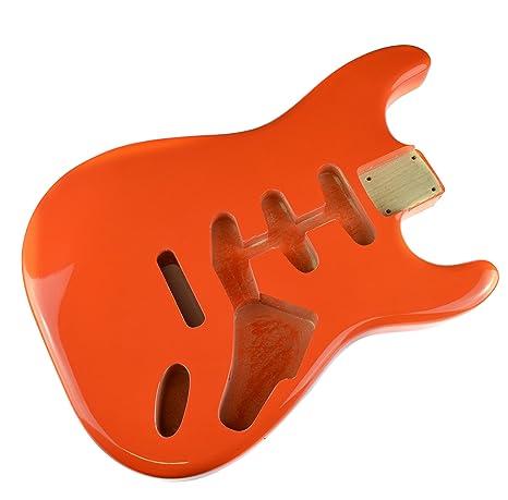 Fiesta Rojo Cuerpo de Guitarra Eléctrica Stratocaster cuerpo - 2 ...
