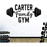 Personalized Custom Family Name Business Center Gym Wall Decal Sticker Customized Choose Size Color Vinyl Fitness…