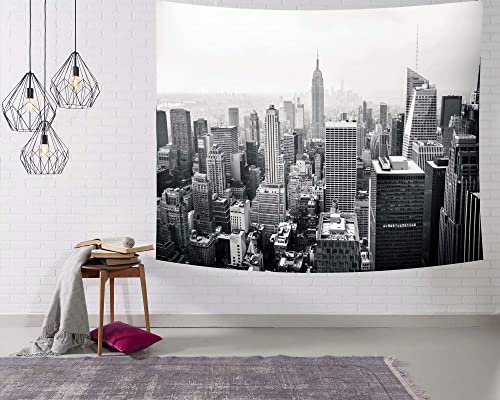 Wamika NYC Tapestry New York City Tapestries Landscape Tapestry Wall Hanging American Cityscape Wall Art Home Decor for Living Room Bedroom Dorm Hippie Bohemian Tapestry 60 X 90