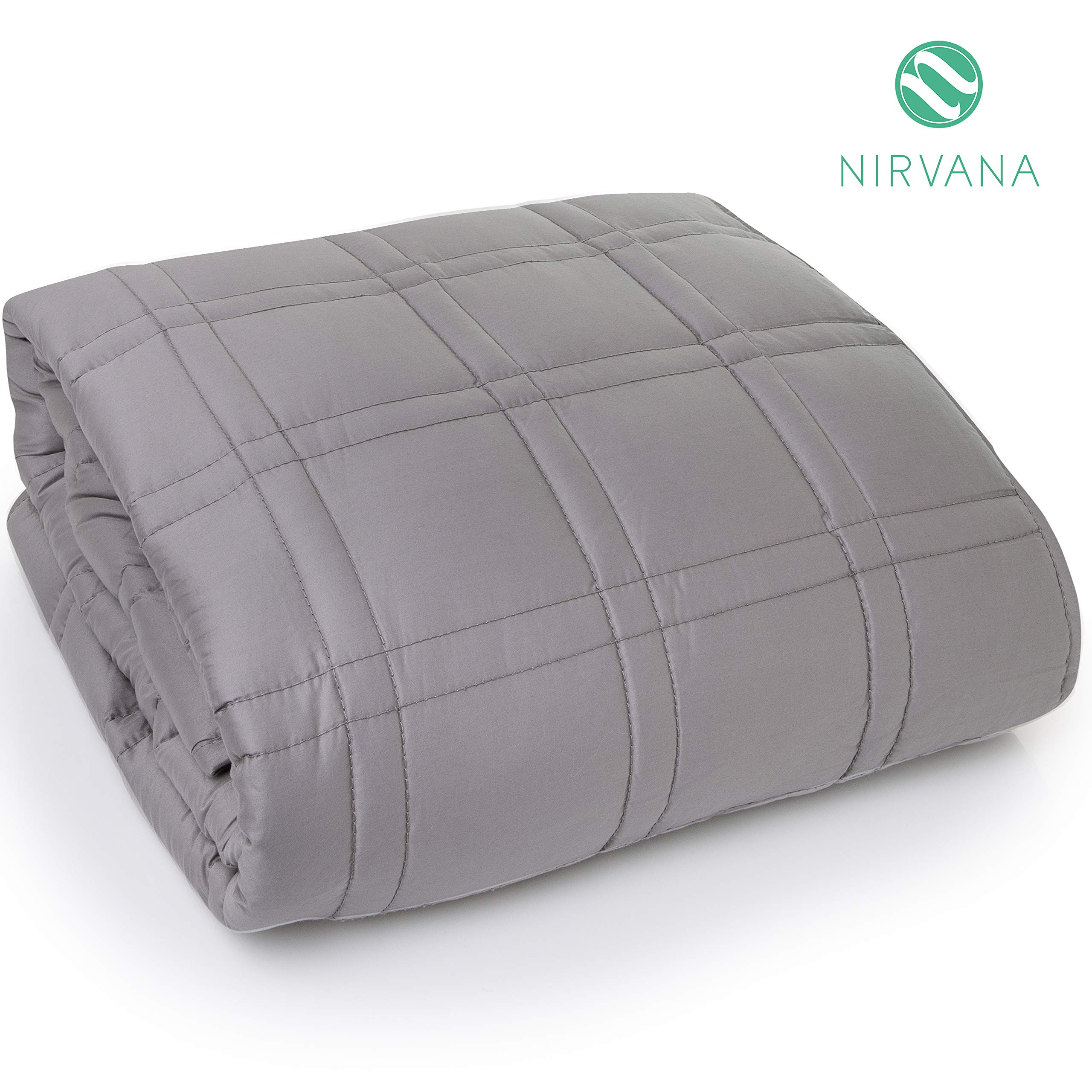 Nirvana Weighted Blanket for Adults & Kids   Natural Deep Sleep Aid & Stress Relief   All Natural Organic Cooling Cotton   Calming Anxiety Blanket   15 lbs   48x78