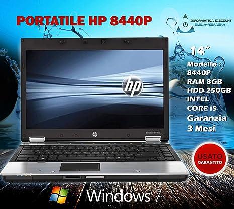 PC portátil Notebook HP 8440p Webcam 8 GB RAM 250 GB HD Intel i5 Win 7