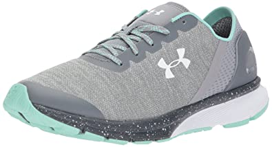 Under Armour Women s Charged Escape Running Shoe Stealth Gray (100) Steel 5 8658a1bf8a