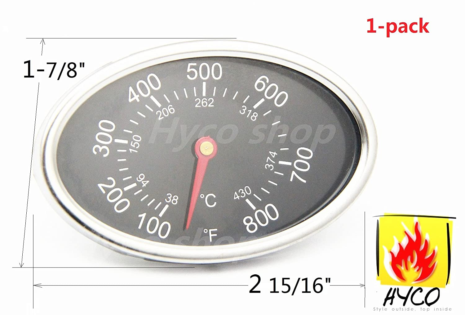 amazon com hyco replacement lid thermometer gas grill stainless