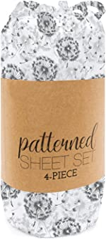 Simply Soft 4 Piece Sheet Set Make A Wish Patterned, Queen,
