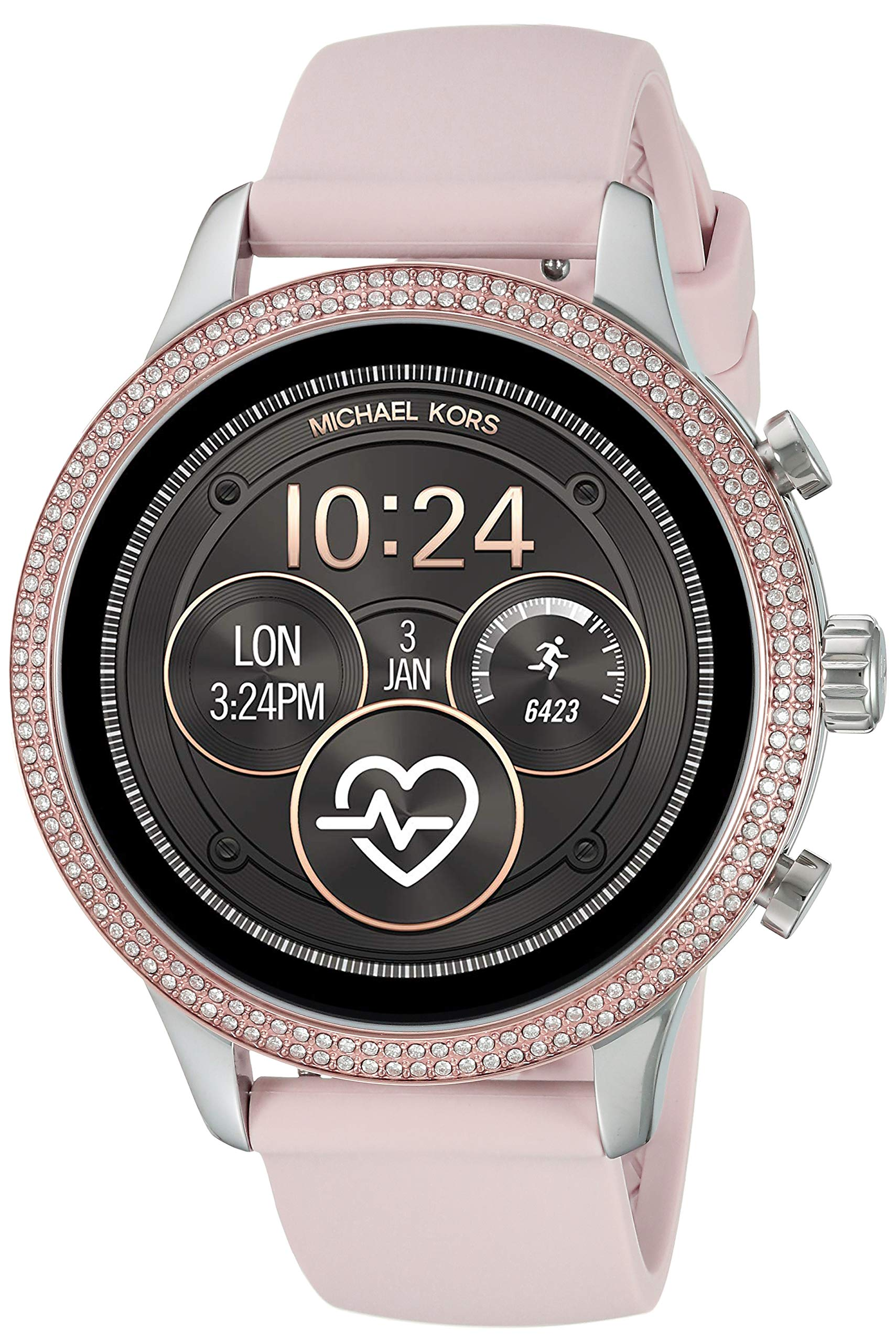 Michael Kors Access Womens Runway Touchscreen Smartwatch Stainless Steel Leather watch, Pink, MKT5055 by Michael Kors