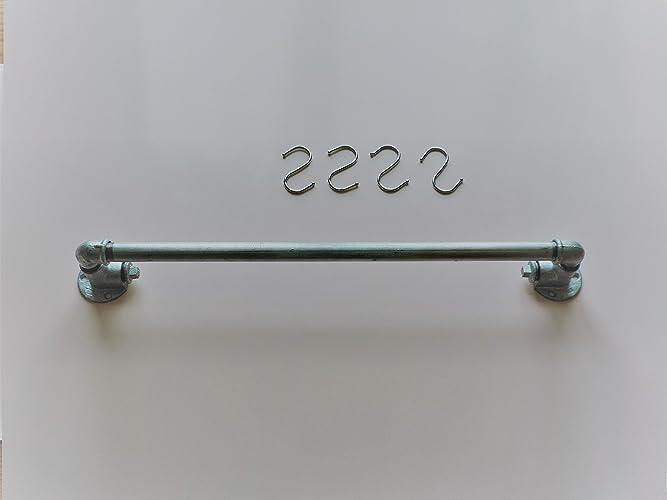 Hakenleiste Kuche Industrie Design Silber Rustikal Kuchenleiste