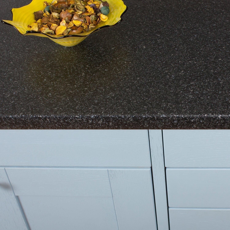 Black Quartz Stone Effect Laminate Kitchen Worktops (Edging Strip ...