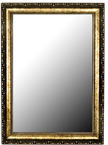 Hitchcock Butterfield Lavonne Traditional Gold Framed Wall Mirror, 24.25 W x 60.25 H