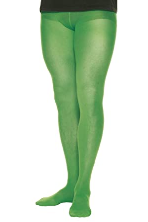 Smiffys-25303 Pantimedias, s, 70 Denier, Color Verde, Tamaño único (25303)