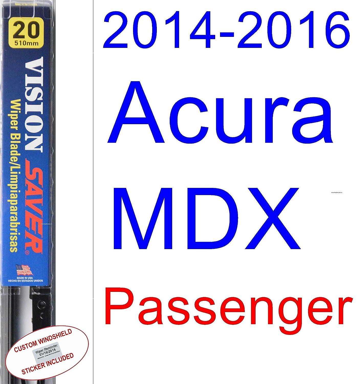 Amazon.com: 2014-2016 Acura MDX Wiper Blade (Rear) (Saver Automotive Products-Vision Saver) (2015): Automotive