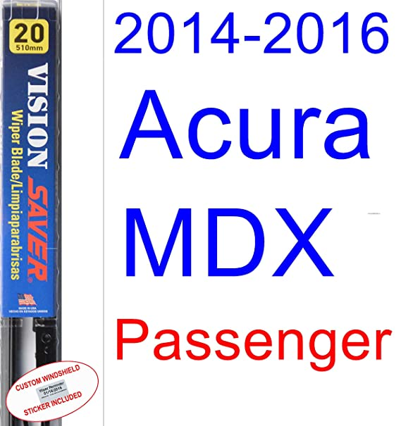 Amazon.com: 2014-2016 Acura MDX Wiper Blade (Rear) (Saver Automotive Products-Vision Saver) (2015): Automotive