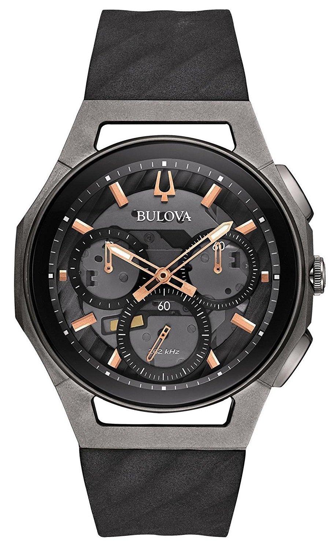 Bulova Men's Curv Collection Dark Gray Watch