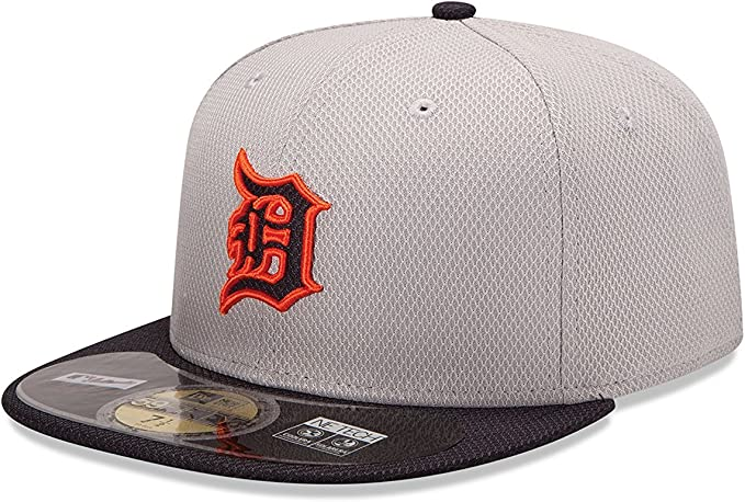 MLB Cap Dark Navy New Era 59Fifty Detroit Tigers HOME Fitted Hat