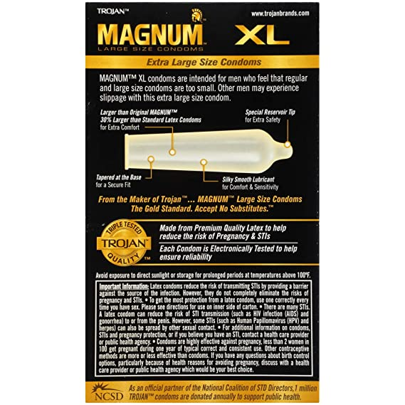 How big are magnum xl condoms