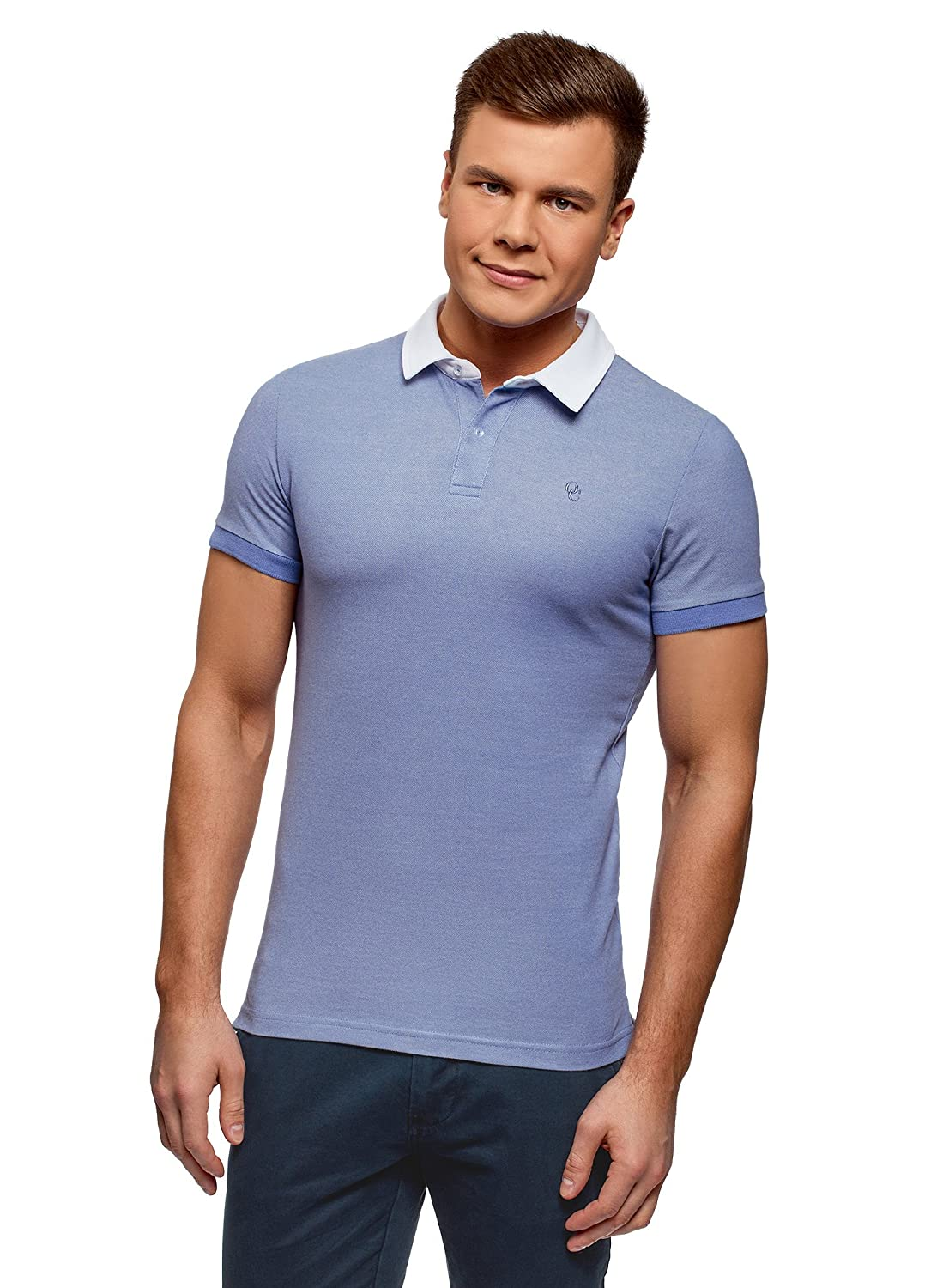 Oodji Ultra Mens Contrast Collar Polo Amazon Clothing