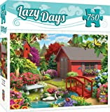 MasterPieces Lazy Days Over the Bridge - Riverside Cottage 750 Piece Jigsaw Puzzle by Alan Giana