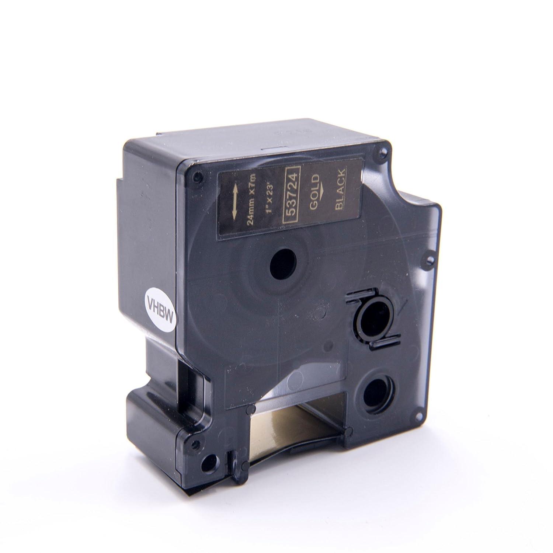vhbw cassette à bande cartouche 24mm or sur noir pour imprimante d´étiquette Dymo LabelWriter Duo, Duo 400, Duo 450 remplace Dymo D1, 53724. VHBW4251004677408