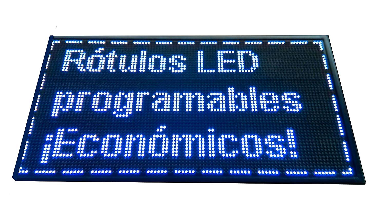 Cartel LED PROGRAMABLE (96x48 cm, Azul) Letrero LED ...