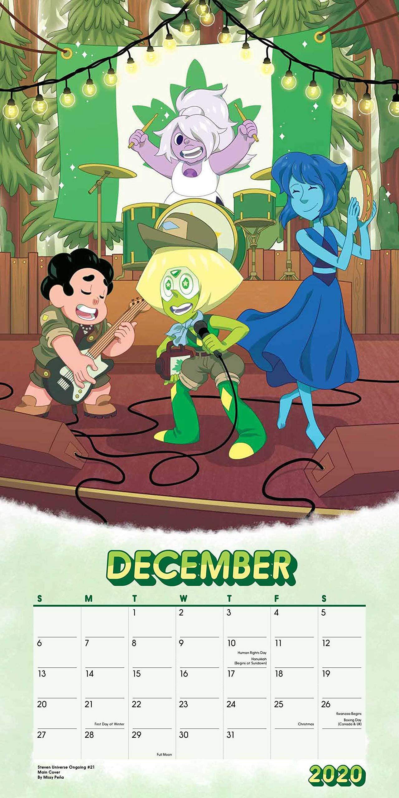 Calendario Vino 2020.Steven Universe 2020 Wall Calendar Cartoon Network