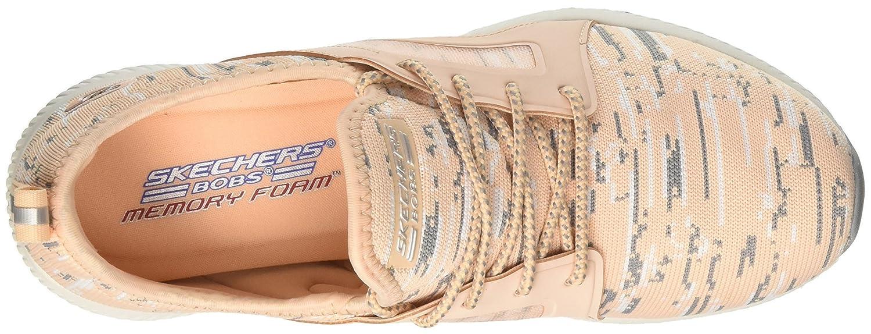 Skechers Damen Bobs Squad-Double Dare Schwarz/Weißszlig; Slip on Sneaker, Schwarz/Weißszlig; Dare Pink (Peach) 0ecb68