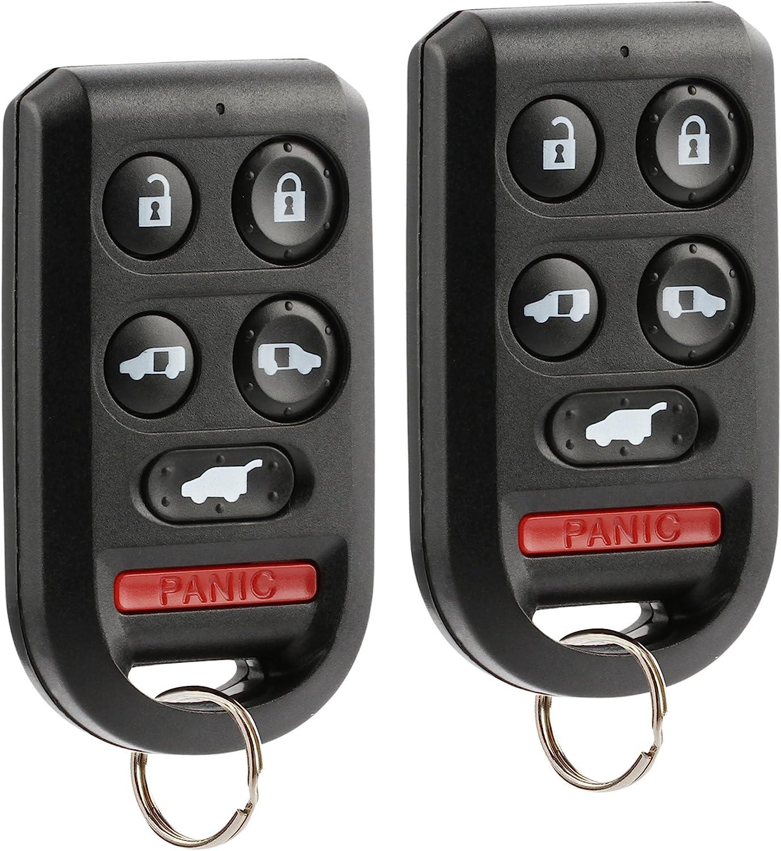 Set of 2 OUCG8D-399H-A 6-btn Key Fob Keyless Entry Remote fits Honda Odyssey 2005 2006 2007 2008 2009 2010