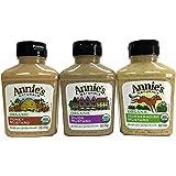 Annie's Natural Organic Mustard 3 Pack (Honey, Dijon and Horseradish)