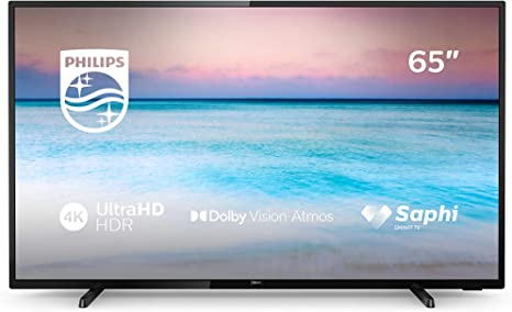 Philips 65PUS6504/12, Smart TV con 4K UHD, Compatibilidad con HDR 10+, Dolby Vision, Dolby Atmos, Wireless/Ethernet/HDMI/USB, 164 cm (65 Pulgadas), Negro: Amazon.es: Electrónica