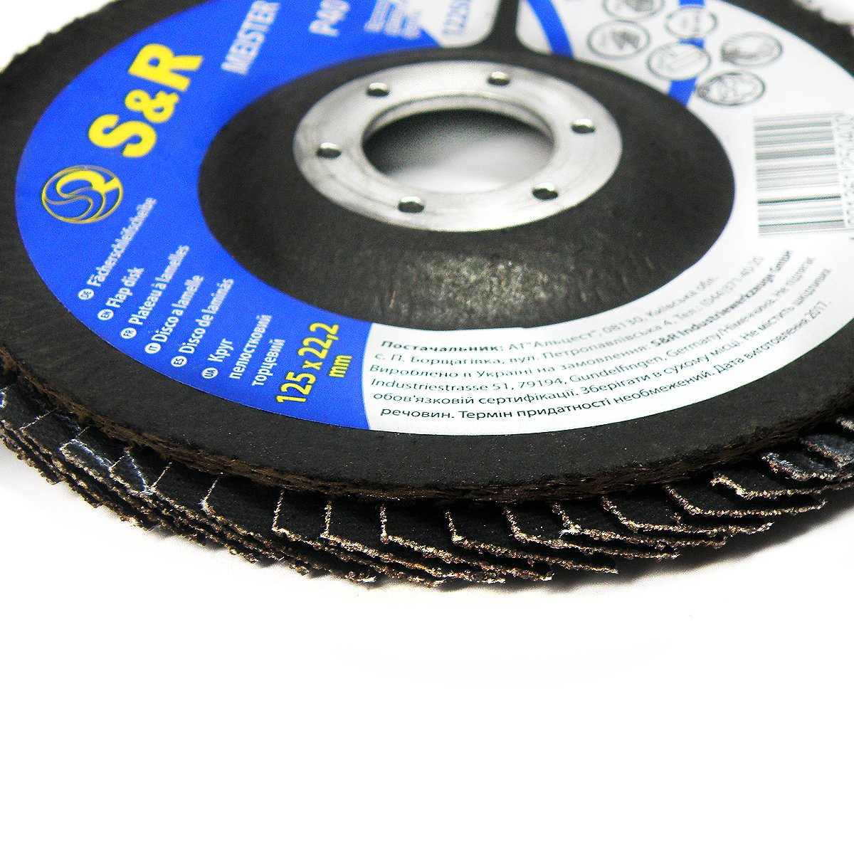 wood T29 for steel S/&R Flap disc// Flap grinding disc125 mm x 22,23 mm Set 5 pieces for angle grinder grain size 100