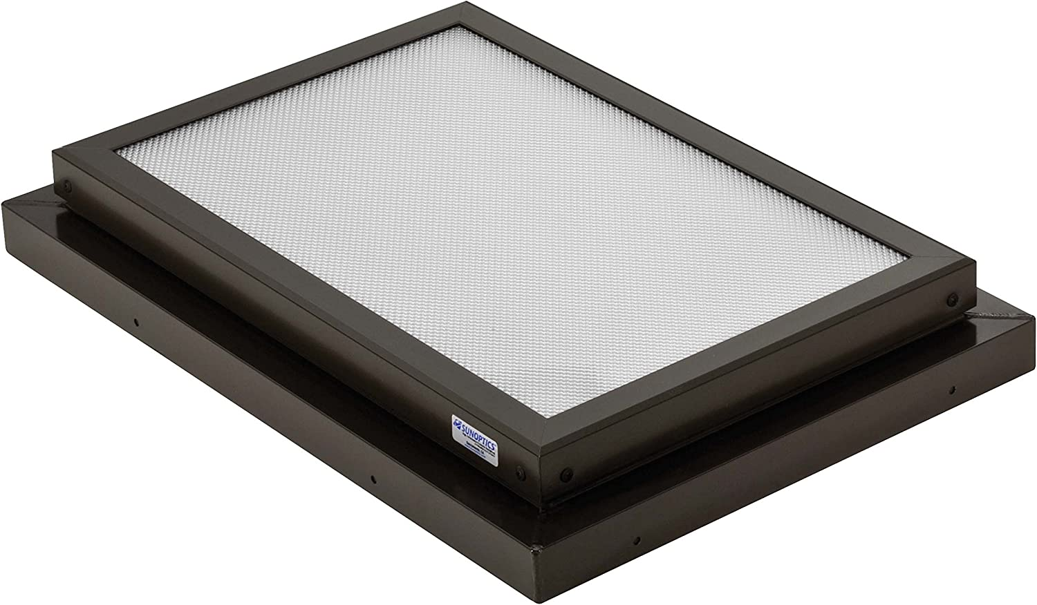 Sunoptics SUN R2030 FLAT TGZ 50CC2 800MD BZ 2-Feet by 3-Feet Triple Glazed Fixed Curb-Mounted Prismatic Flat Skylight, Bronze