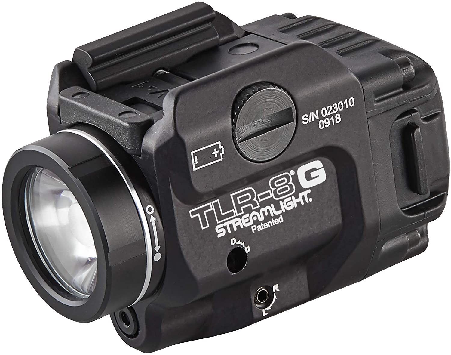 Streamlight 69430 TLR-8G with Rail Locating Keys & CR123A Lithium Battery - 500 Lumens